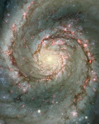 Whirlpool galaxy from Hubble